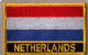 Netherlands Embroidered Flag Patch, style 09.